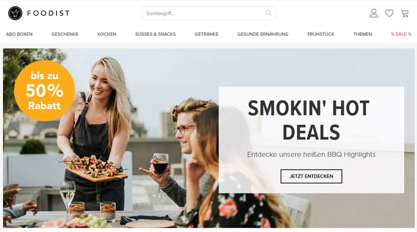 Website Startup foodist
