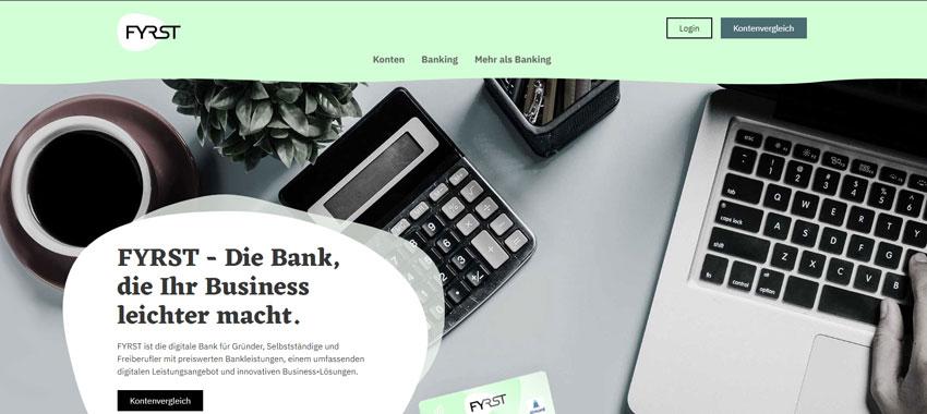 Die Bank für dein Geschaeftskonto - fyrst