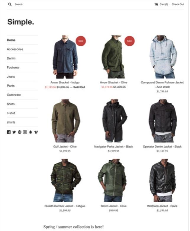 Shopify Theme Simple