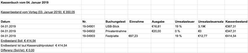 Kassenbuch Vorlagen Gratis Fur Microsoft Excel Und Als Pdf