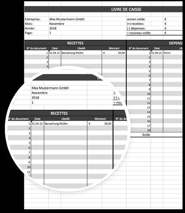 Modele De Livre De Caisse Pour Excel Gratuit A Telecharger