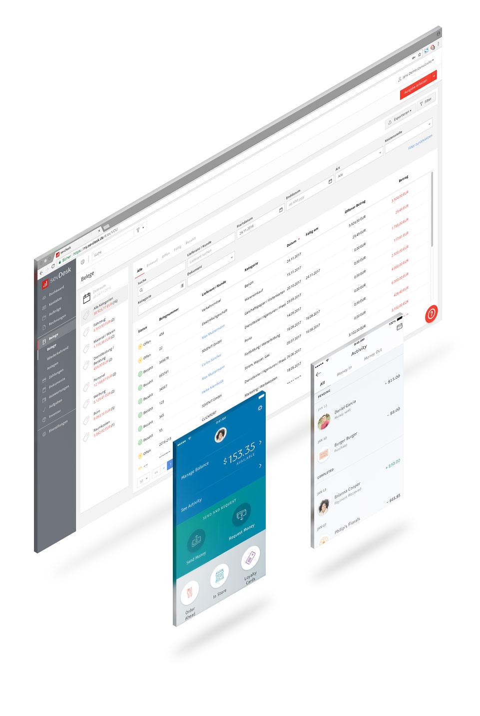 sevDesk & PayPal direkt integriert