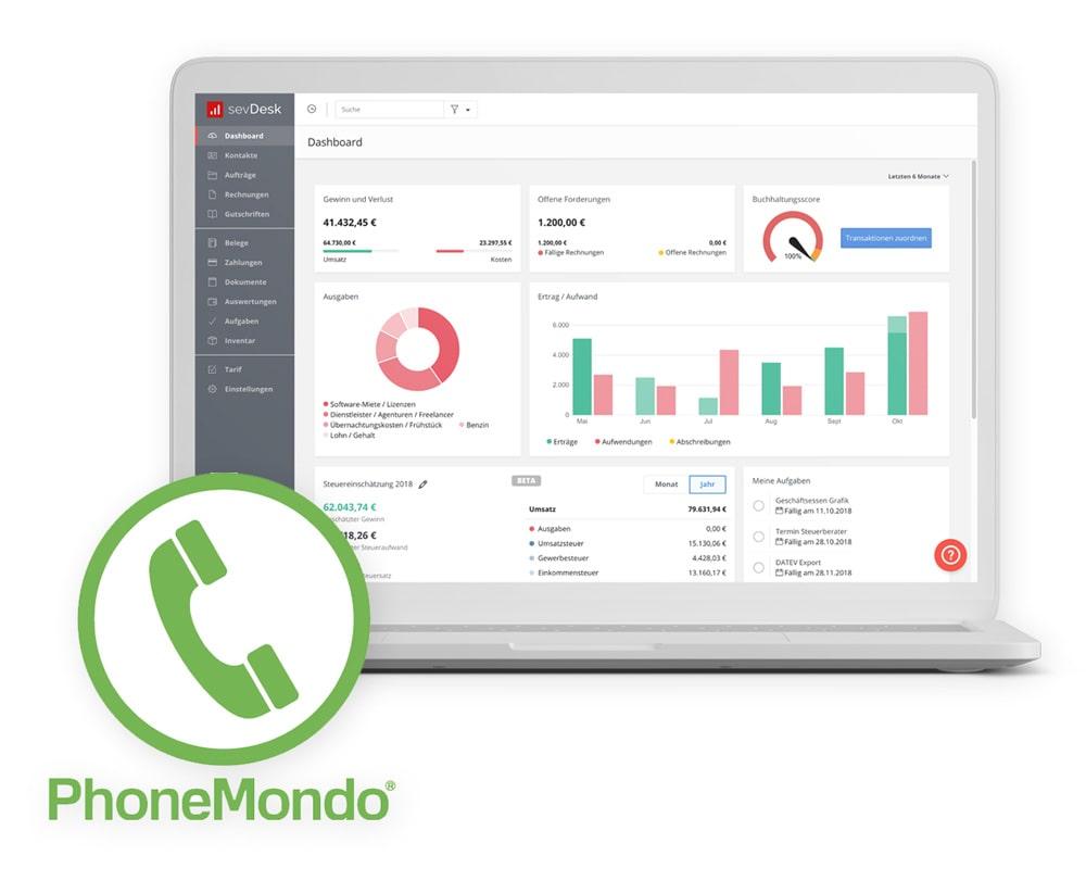 phonemondo mit buchhaltung verbinden