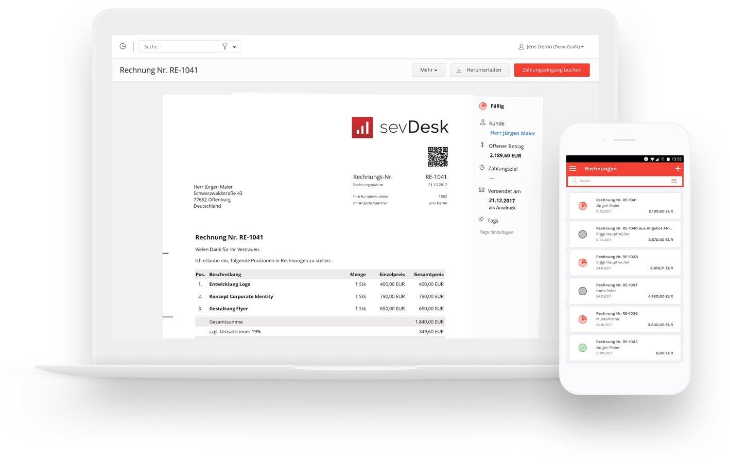 Rechnungsprogramm Sevdesk Einfach Schnell Und Online