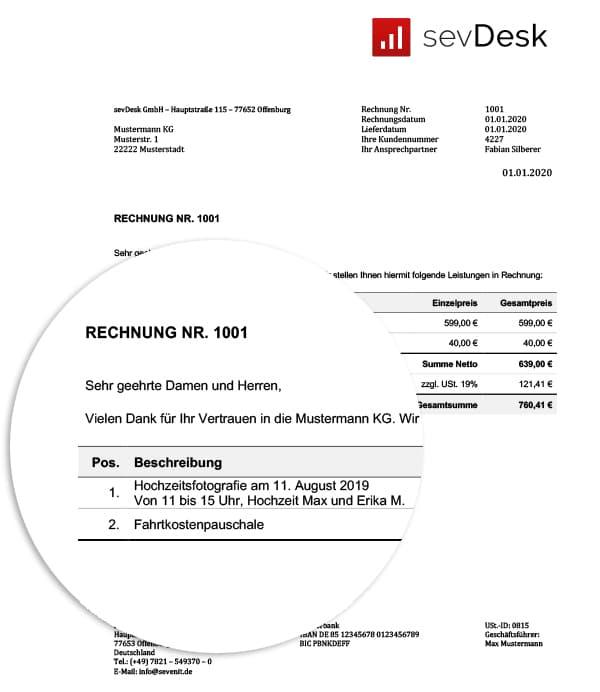 Rechnungsvorlage Fur Fotografen Kostenlos Word Excel