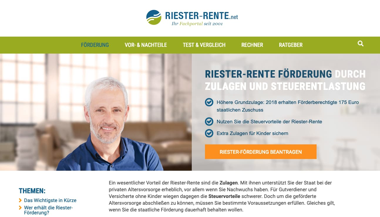 Riester Rente Rentenversicherung