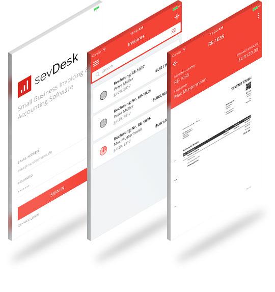 sevDesk App jetzt im Playstore oder App Store herunterladen