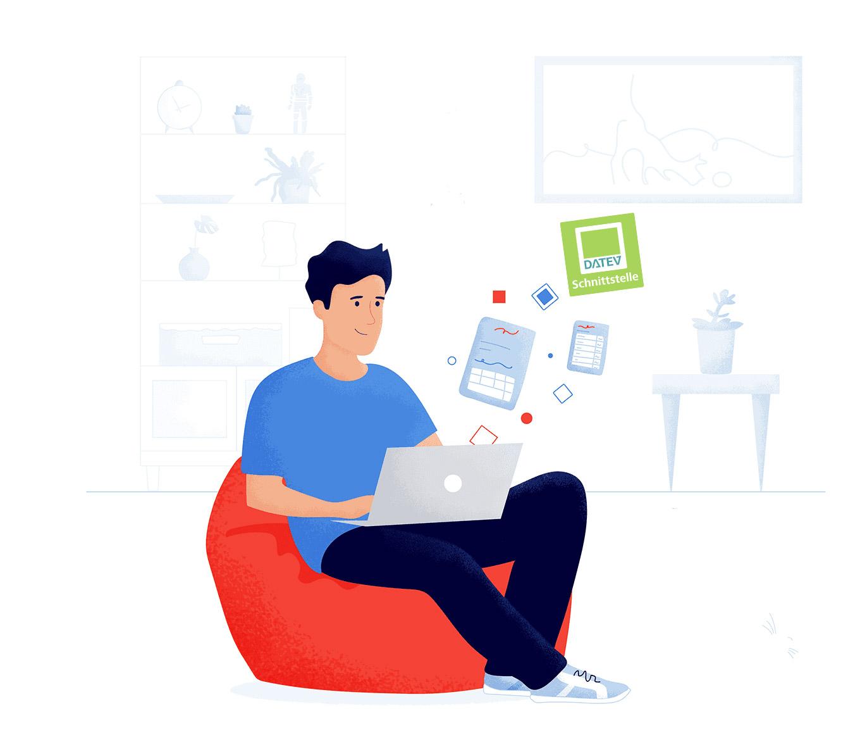 Schnittstelle zu DATEVconnect online