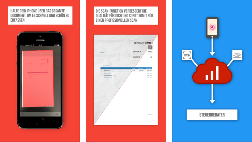 sevScan App - Belege einfach digitalisieren