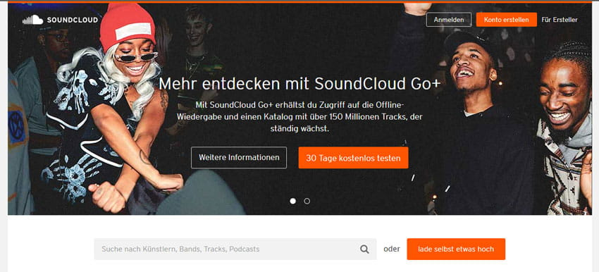 Soundcloud Musikplattform
