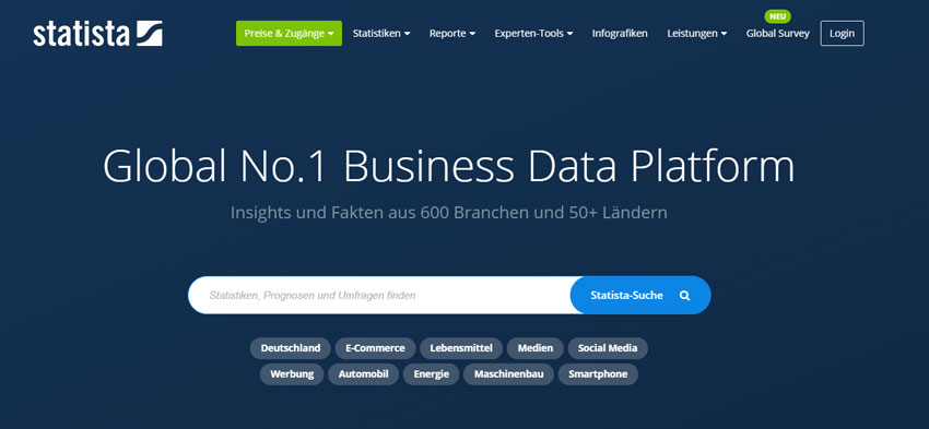 Statista-Datenbank