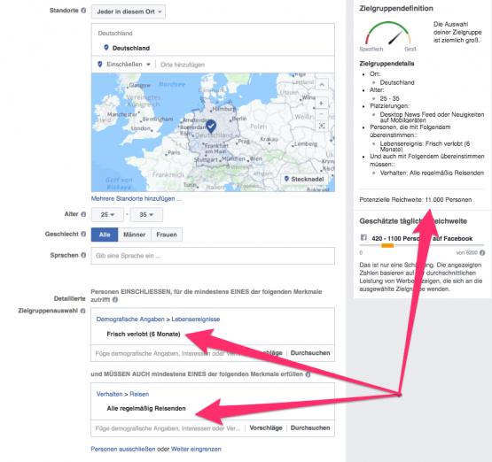zielgruppe eingrenzen in facebook