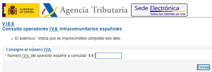 consulta en vies registro de operadores intracomunitarios